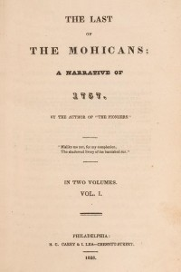 The Last of the Mohicans (Volume I)