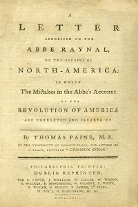 A Letter Addressed to the Abbe Raynal on the Affairs of North America