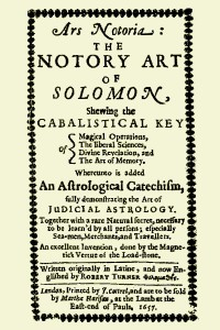 Ars Notoria (The Notory Art of Solomon)