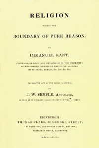 Theory of Religion - Immanuel Kant