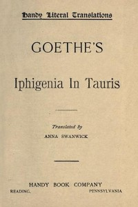 Iphigenia in Tauris - Goethe