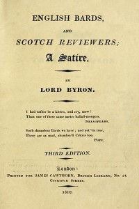 English Bards and Scotch Reviewers - Lord Byron