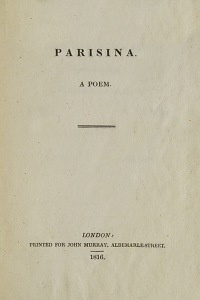 Parisina - Lord Byron