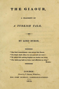 The Giaour - Lord Byron