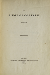 The Siege of Corinth - Lord Byron