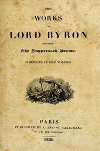 The Works of Lord Byron in one volume