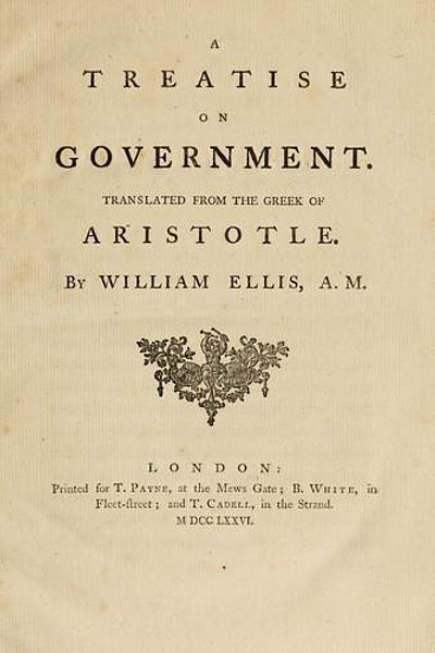 A Treatrise on Government (Politics of Aristotle)