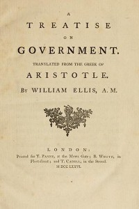 A Teatrise on Government - Aristotle Politics