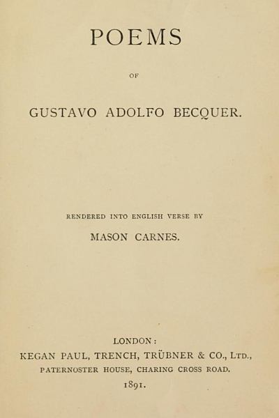 Poems of Gustavo Adolfo Bécquer