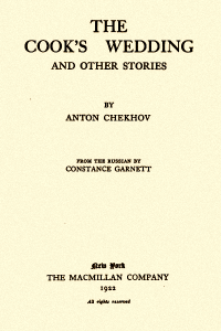 The Cooks Wedding and Other Stories - Anton Chekhov