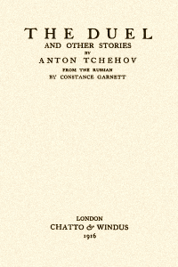 The Duel and Other Stories - Anton Chekhov