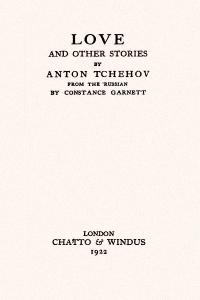 Love and Other Stories ( The Tales of Chekhov Volume XIII)