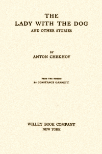 The Lady with the Dog and Other Stories ( The Tales of Chekhov Volume III)
