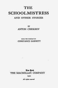 The Schoolmistress and Other Stories - Anton Chekhov