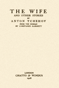 The Wife and Other Stories - Anton Chekhov