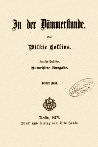 In der Dammerstunde - Wilkie Collins
