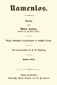 Namenlos - Wilkie Collins