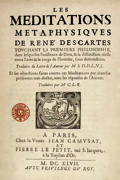 descartes attempt to outline his philosophical views in meditations In meditations on first philosophy (1641), descartes attempts to arrive at a fundamental set of principles that one can know as true without any doubt to achieve this, he employs a method called methodological skepticism: he doubts any idea that can be doubted.