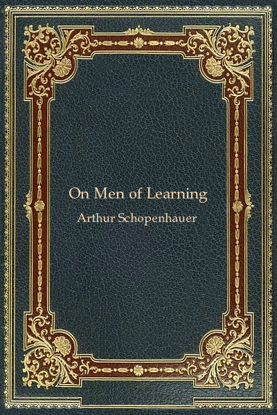 On Men of Learning