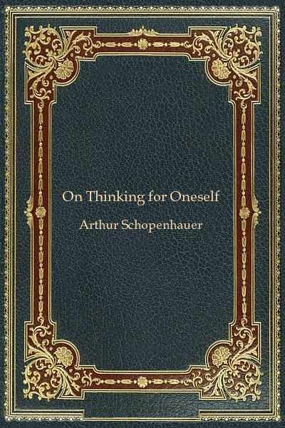 On Thinking for Oneself