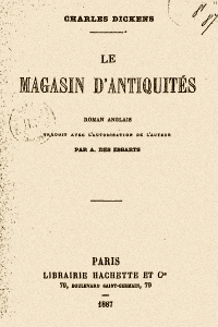 Le magasin dantiquites - Charles Dickens