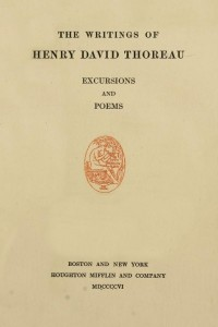 Excursions and Poems - Henry David Thoreau