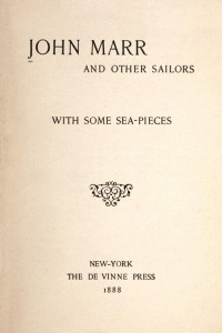 John Marr and Other Sailors - Herman Melville