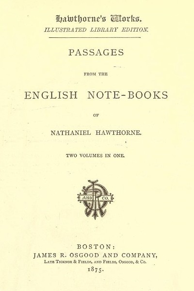 Passages from the English Note-Books