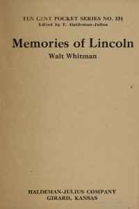 Memories of Lincoln - Walt Whitman