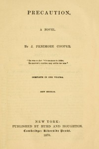Precaution - James Fenimore Cooper