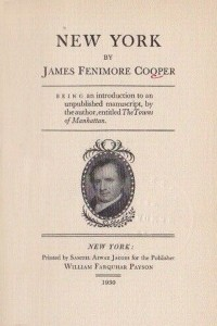 New York - James Fenimore Cooper