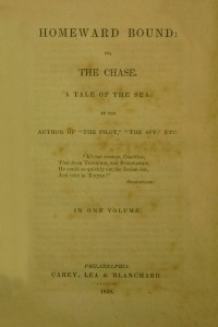 Homeward Bound or The Chase - James Fenimore Cooper
