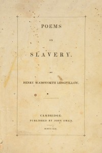 Poems on Slavery - Henry Wadsworth Longfellow
