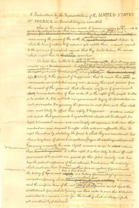 Jeffersons Draft of the Declaration of Independence