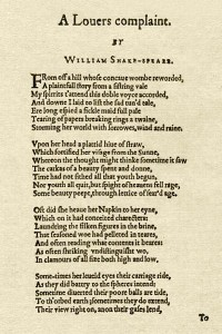 A lovers complaint - William Shakespeare